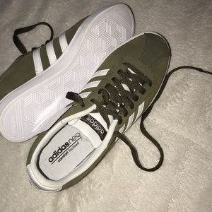 Olive Green Adidas Skate Shoes
